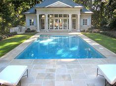 Beautiful pool house w/ Indiana limestone pool decking