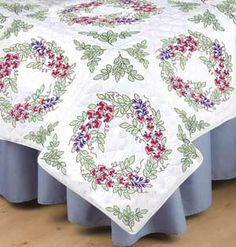 Wisteria Quilt Blocks, embroidery