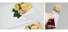 Business card flowers. Letonia marketing