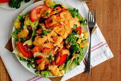Chipotle Mango BBQ Chicken Salad by iowagirleats #Sald #Chicken #Mango #iowagirleats