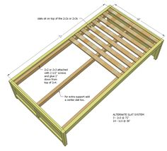 diy daybed with storage     Build a Daybed with Storage Trundle Drawers   Free and Easy DIY ...