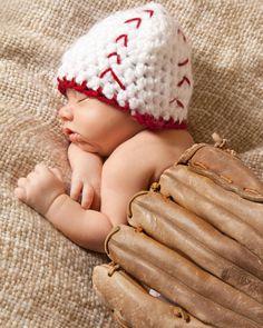 Sports Football Baseball Newborn Baby hat by HooksandAnchors, $10.00