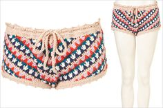 Hot Buy: Topshop Multicolored Crochet Shorts