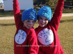 Homemade Thing 1 and Thing 2 Halloween Costumes: My daughter and her friend wanted to do something together so I suggested a Homemade Thing 1 and Thing 2 Halloween Costumes...