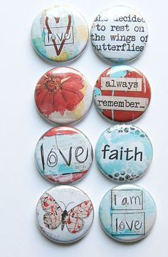 Lovely Words 8 Flair by aflairforbuttons on Etsy, $6.00