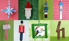 Ornaments made from Popsicle Sticks!