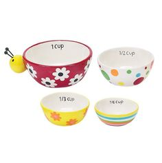 How cute is this?!  Lady Bug Garden Measuring Cup Set