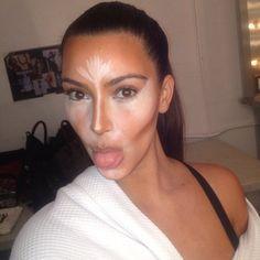 Kim Kardashian got her makeup contoured.  Source: Instagram user kimkardashian