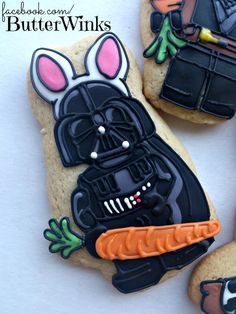 Starwars DarthVader Easter Cookies By Butterwinks www.butterwinks.tumblr.com via TheCookieCutterCompany