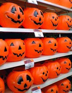 Plastic Pumpkins.  Great pic.