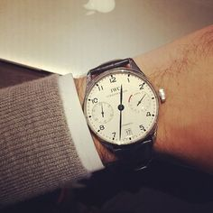 hodinkee:  Modern classic from @iwcwatches from a friend. (at...