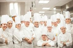 Paul Bocuse with students for the grand opening of The Bocuse Restaurant I The Culinary Institute of America