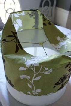 DIY lampshade slip covers.  makes it simple to change out with alterations to decor or seasons
