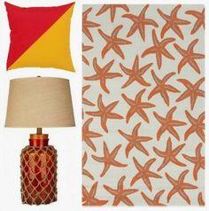 Sunset orange and starfish!