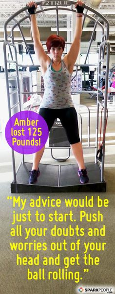 Amber lost 100+ pounds with @SparkPeople the healthy way! Check out her inspiring story and weight loss tips! | #diet #fitness #motivation #success