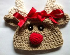 crochet christmas character hats - Google Search