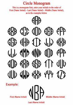 Free Monogram Font Downloads | New-Circle-Monogram.jpg 502×720 pixels | Let's get crafty.