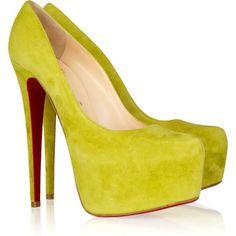 star, pump, daffodil louboutin, shoe, weird color