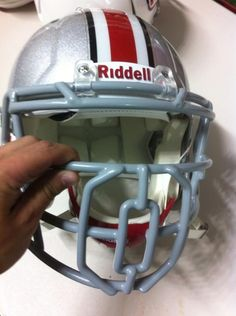 Ohio State Buckeyes' new face mask has a giant 'O' in the middle #buckeyes #ohiostate