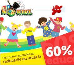 Pentru mai multa joaca, reducerile de jucarii au urcat la -60% la Noriel! - http://www.outlet-copii.com/outlet-copii/jucarii-copii/jucarii-plus/pentru-mai-multa-joaca-reducerile-de-jucarii-au-urcat-la-60-la-noriel/ - Personajele tale preferate din desene animate le gasesti la Noriel, cauta-le, acum au reduceri si de -60% pentru mai multa joaca, click aici Angry Birds, Animalute,Bakugan, Barbie, Bratz, Cars, Dinozauri, Furby, Hello Kitty, Lalaloopsy, Lego City, Lego Duplo, Lit
