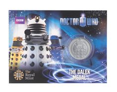 Dalek Dr Who official medal from The Royal Mint