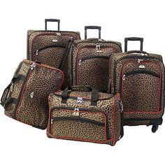 Leopard Print Luggage!!