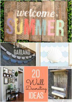 Great Ideas -- 20 DIY Wall Decorating Ideas!!