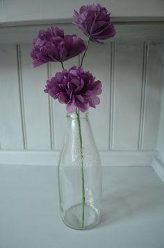 Purple Paper Flowers, Wedding Centrepiece, Home Decor