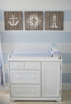 Nautical themed nursery!