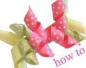 hairbow, bow howto, art ton, bows, hair bow