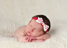 Red and White Polka Dot Felt Bow Headband by extrafrostingplease, $8.00