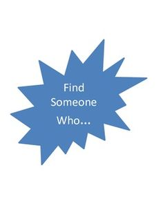 Find Someone Who... for kids Ice Breaker for Back to School!