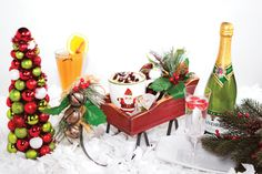 Festive drinks to warm up any celebration No more silent nights when you celebrate with festive holiday drinks. Even Frosty the Snowman will warm up and jingle celebration bells when sipping hot chocolate, a bubbly cocktail or delicious holiday punch. A drink becomes even more special when garnished with fruit, a sprig of mint,