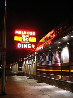American diner signs