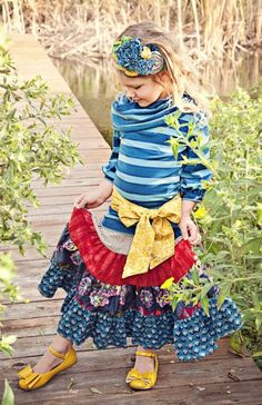 Persnickety Jessie Collection12 Months to 12 YearsMaxie Skirt, Top, Headband, Sash & Shoe Available!40% OFF SALE