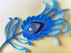 Peacock quilling | Quilled Peacock Feather - Quilling Cafe