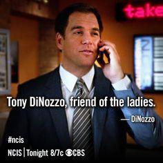 DiNozzo - Tony DiNozzo, friend of the ladies.