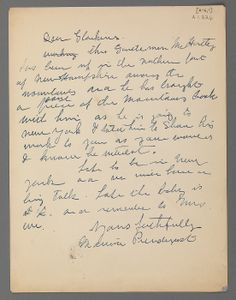 Letter from Maurice Prendergast to William Glackens  ca. 1908 at Williams College Museum of Art.