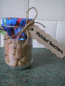 pickled teachers!!! a perfect original gift for your teacher at the end of term.