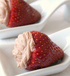 One-bite strawberry cheesecake treat