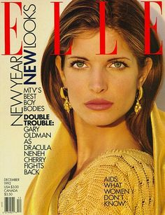 magazine covers, stephani seymour, magazin cover, stephanie seymour, ell cover, 1992, supermodel, ell magazin, 90s model