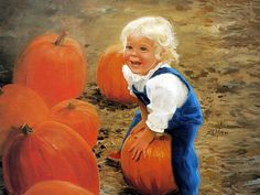 Donald Zolan Oil Painting : Golden childhood