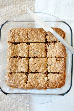 Chai Spiced Oatmeal Raisin Cookie Bars! Recipe