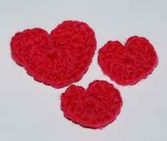 Easy to Crochet hearts, big or small