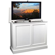 Tv retractable on pinterest tv cabinets pop up and - Retractable tv cabinet living room furniture ...