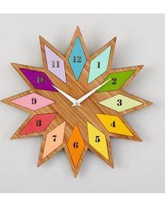 Chromatic Bamboo Wall Clock