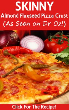 Guilt-Free Pizza Crust Recipe - wheat-free, white-flour free & Dr Oz approved! Wheat Belly's Pizza Crust blows cauliflower pizza crust out of the water!