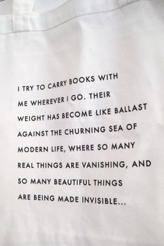 tote with a quote