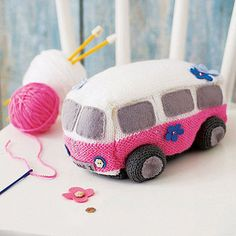 Surf Van knitting starter kit by The Little Knit Kit Company