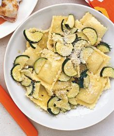Cheese Ravioli with Sauteed Zucchini